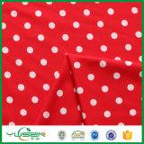 Tissu de Spandex de points de polka d'impression pour la robe