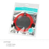 2m Mannetje het Van uitstekende kwaliteit van de Hoge snelheid aan Mannelijke Nylon Kabel HDMI