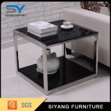 Hotel Furniture Silver Mirror End Table Metal Counts