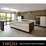 蜂蜜の白い台所は水晶Benchtopおよび指の引きデザイン習慣Tivo-0203hと結合する