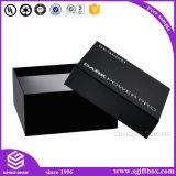 Contenitore di regalo su ordinazione di lusso nero del documento Handmade di stampa