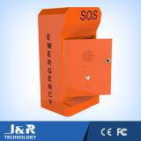 Angeschaltenes Straßenrand-Solartelefon, PAS-Telefon mit Spalte, Notrufstelle