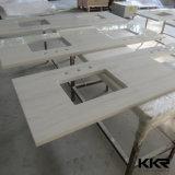 Синтетические белые Prefab Countertops кухни камня кварца