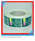 La aduana imprimió la escritura de la etiqueta auta-adhesivo de la etiqueta engomada del rodillo