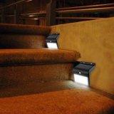 16 LED Solar Power PIR Capteur de mouvement Lampe d'escalier Garden Fence Light Extérieur imperméable à l'eau de sécurité Step Light