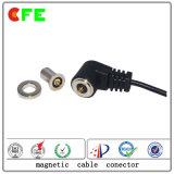 Macho e conetor de cabo magnético fêmea para o perseguidor pessoal