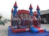 Castelo inflável personalizado combinado, casa Bouncy de encerado do PVC