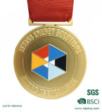 Medaglia calda del ricordo del metallo dell'oro di vendita del campione libero con il nastro