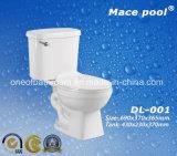 La toletta a due pezzi di ceramica di vendita calda per la stanza da bagno ha impostato (DL-001)