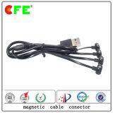 conetor de cabo 2pin magnético com 4plug