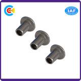 Kohlenstoffstahl-nichtstandardisierter Pilz-Kopf-Semi-Tubular Niet/Schraube für Maschinerie-Industrie
