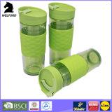 San-materielle doppel-wandige Plastikkaffeetasse