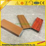 Customzied PVDF/transfert de chaleur du grain de bois profilé en aluminium pour la décoration