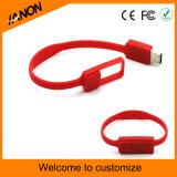 Mecanismo impulsor clásico del flash del USB de la pulsera del estilo con insignia de la impresión