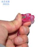 Percha clara plástica de encargo al por mayor de la ropa interior de la venta directa de la fábrica con los clips