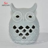 Vela cerâmica Holders/C da forma das corujas