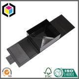 Rectángulo de papel de la ventana del negro del regalo claro de la cartulina para la joyería