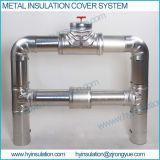 Alluminio di Prefabriated due coperchi mezzi del gomito che si adattano per l'isolamento del tubo