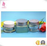 Contenitore crema cosmetico di vetro glassato/trasparente del commercio all'ingrosso di prezzi di fabbrica del vaso del POT della bottiglia