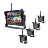 7 Polegadas Monitor de gravação digital de 4 canais da câmara de visualização traseira Sem Fio para camiões, tractores agrícolas, cultivadora, reboque, Autocarros