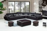 Sofà della mobilia di stile dell'Europa con cuoio puro (LZ-883)