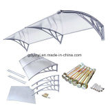 Baldacchino di plastica del portello DIY del policarbonato esterno economico di Hotsale (YY800-C)