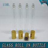 15ml Slim Transparent Roll on Perfume Bottle Glass