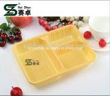 O plástico descartável Eco-Friendly de 3 compartimentos do baixo preço leva embora a caixa de Bento