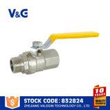 El gas de alta presión del propano aprisa conecta la válvula de gas de cobre amarillo (VG-A62021)