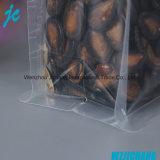 Saco de embalagem resealable de baixo plano de plástico de série de alimentos oito selos