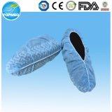 Blaue weiße transparente Schuh-Wegwerfdeckel