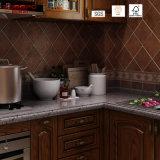 Gabinete de cozinha de carvalho vermelho pintado de design antigo (GSP5-042)