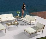 O sofá ao ar livre da mobília do lado da associação do pátio da mobília nova do hotel do projeto ajustou-se com mobília do &PE-Rattan do alume