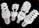Media lámpara ahorro de energía espiral B22 E27 de CFL