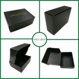 금박지를 가진 E 플루트 검정 종이 선물 상자
