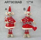 """17"""" H Permanente del ratón con el juego de Santa-2asst. -Christmas Decoración"""