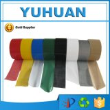 Bande adhésive colorée imperméable à l'eau de conduit de tissu de qualité
