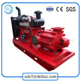 Pompe centrifuge à plusieurs étages de large volume d'irrigation de moteur diesel