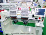 2016 Wonyo 2 cabezal computarizado tapa camiseta plana lentejuelas Cording taping máquina de bordado