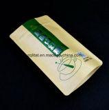 Plastic Zak van de Tribune van de Druk van kraftpapier lamineerde de omhoog met 3 Lagen Plastic Zak voor het Rode Pakket van de Suiker met Ritssluiting