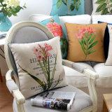 Almohadillas de tiro de lino del algodón comprable decorativas para el sofá