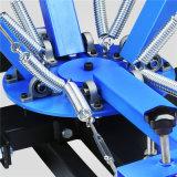 4 máquina de impressão da tela da imprensa do Screenprint da seleção de seda da estação da cor 4