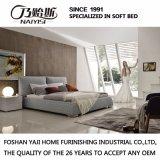 호텔 침실 G7001를 위한 현대 단단한 나무 프레임 직물 침대