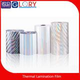 Fabricante caliente BOPP metalizado holograma de la película de laminación térmica con alta calidad