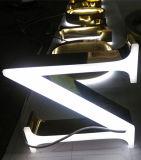 Eletroplating는 금 편지 티타늄에 의하여 분명히된 표시 3D 편지 로고 표시 LED 가벼운 편지를 도금했다