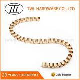 Bolsas da alta qualidade do retângulo do ouro/correntes decorativas/do metal ferro/as de alumínio