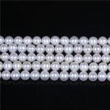 "AAAの等級の白い淡水の真珠の繊維8mmの9mm緩い真珠16 ""長く"