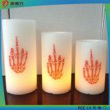 Indicatore luminoso di plastica della candela LED di natale