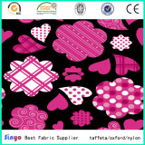 Pas de PVC blanc Vogue Multi-Color Polyester Fleurs Tissus imprimés
