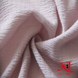Tela Chiffon do poliéster de seda cor-de-rosa do enrugamento para o vestido